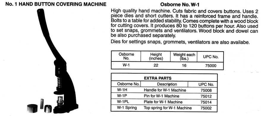 Osborne No. W-1 Spring for W-1 Machine