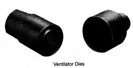 "3/4"" Ventilator Dies For W-1 Button Machine"